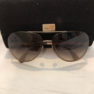 Dolce & Gabbana taupe aviator shades